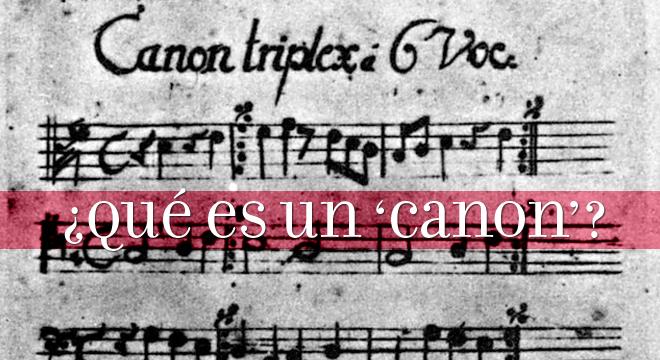 canon - definicion de canon