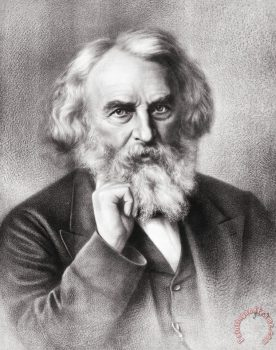 Henry Wadsworth Longfellow Painting; Henry Wadsworth Longfellow Art Print for sale